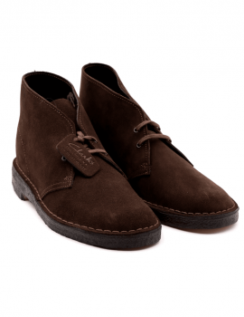 POLACCHINO CLARKS DESERT BOOT BROWN SUEDE