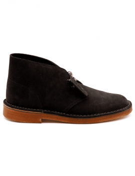 POLACCO CLARKS DESERT BOOT DARK GREY SUEDE