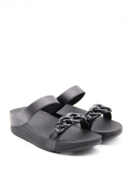 FITFLOP FINO CHAIN SLIDE BLACK