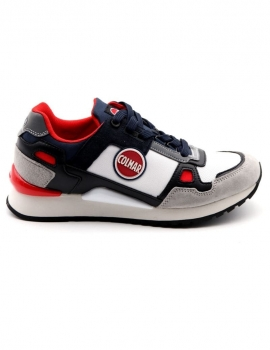 SNEAKERS UOMO COLMAR A-TYLER BEAT 049 LT GRAY/NAVY/RED